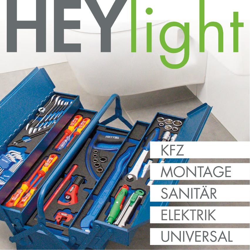 """Das aktuelle Verkaufsmagazin """"HEYlight"""" von HEYCO"""